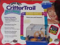 Mouse/Dwarf Hamster Cage. Crittertrail Mini Manor with Playground + Rolling Ball Accessories.