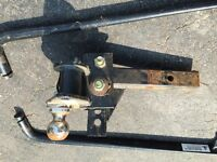 tow hitch and torsion bars