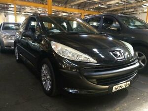 2007 Peugeot 207 XR Black 5 Speed Manual Hatchback Georgetown Newcastle Area Preview