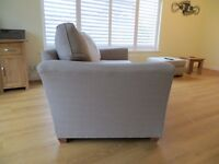 Large 4-seat sofa and footstool for sale