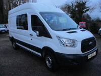 2014 Ford Transit 2.2TDCi CREW 6 SEATER T 350 L3H3 NO VAT 60000 MILES GUARANTEED