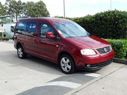 2009 Volkswagen Caddy 2K MY10 Wagon Life Maxi DSG Maroon 6 Speed Sports Automatic Dual Clutch Wagon