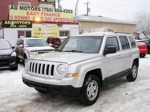 """ REDUCED "" 2012 JEEP PATRIOT NORTH SPORT 4X4 AUTO-100% FINANCE!"