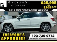 2011 Mercedes GLK350 4Matic $209 bi-weekly APPLY NOW DRIVE NOW