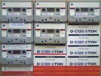 JL CHEAPEST ONLINE 6x RARE TDK D 120 D120 CASSETTE TAPES 1979-81 W/ CARDS CASES LABELS ALL GC