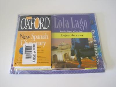 Spanish Text Book Lot Oxford New Spanish Dictionary Lola Lago Lejos Myspanishlab