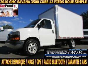2010 GMC Savana 3500 ROUE SIMPLE / GPS / ATTACHE REMORQUE / IMPE