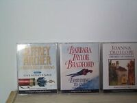 Three audio books, each of two cassettes