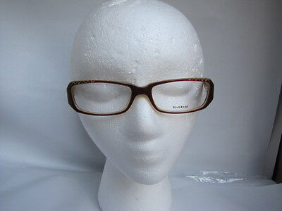 BeBe  Downtown Julie BROWN Designer  Eyeglasses flex hinges 53-16-135 E416