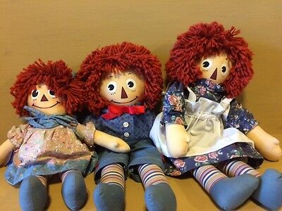 Molly-e Raggedy Ann, Andy and Baby by Applause