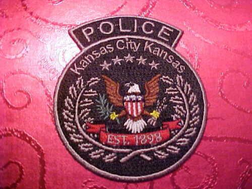 KANSAS CITY KANSAS POLICE PATCH UNUSED 3 X 2 1/2