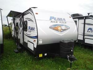 2018 Puma XLE 22RBC Ultra Lite Travel Trailer with Bunks