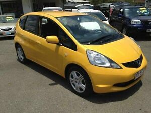 2009 Honda Jazz GE MY09 GLi Yellow Manual Hatchback Greenslopes Brisbane South West Preview