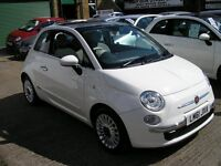 2009 FIAT 500 1.2 LOUNGE. 23,977 MILES FROM NEW-SERVICE HISTORY