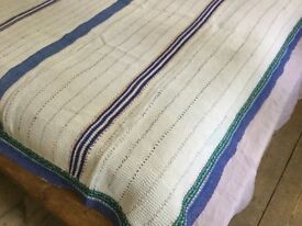 Vintage Indian Kantha throw. Reversable, Handmade, one of a kind. 100% cotton.