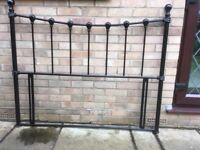 """Black headboard (as new) for 4""""6 bed"""