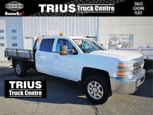 2015 CHEVROLET 3500 HD 4WD FLATBED CREW CAB