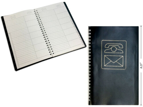 "Spiral  Black Cover Address Book 5 1/2"" x 8 1/2"""