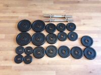 60 Kg Cast Iron Weights with spinlock collars