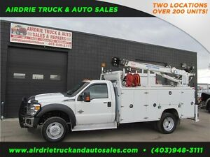 2012 Ford Super Duty F-550 DRW XLT Service Body Crane Vmac