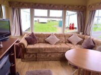 Super 8 berth caravan for hire at Sandy Bay near Newbiggin By The Sea,A Excellent prices available.