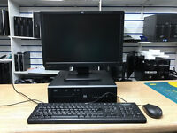 HP Desktop PC - 19 inch Monitor Core 2 Duo 3.16GHz 4GB Ram SEVERAL AVAILABLE!!!