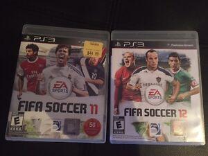 PS3 FIFA Soccer 11 + 12 OR $10 each