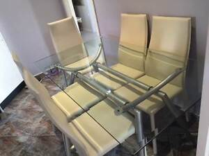 Glass Top Dining Table with 6 Chairs Pyrmont Inner Sydney Preview