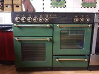 **Leisure Rangemaster 110 Freestanding Electric Range Cooker (Dark Green)**