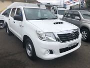 2012 Toyota Hilux KUN16R MY12 SR White 5 Speed Manual Dual Cab Pickup Kooragang Newcastle Area Preview