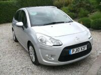 2010 CITROEN C3 AIRDREAM HDI + 5DOOR HATCHBACK SILVER M.O.T. JULY 2019 FULL SERVICE HISTORY