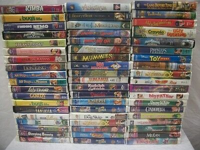 AMAZING Lot 57 Children's Kids Family VHS Tapes Movies DISNEY MULAN and OTHERS on Rummage