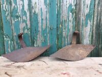 Salvaged cutting/ digging tool heads - ornamental/ decorative use