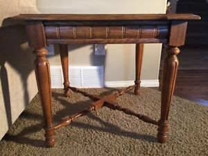 Solid wood and glass coffee table in perfect condition
