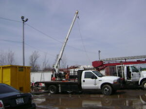 ford f450, 7.3L 35 foot crane, 28 foot bucket truck all in one