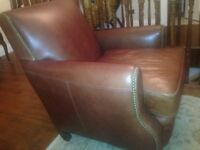 Next Leather Chair in excellant condition ! never used only in hall for decoration