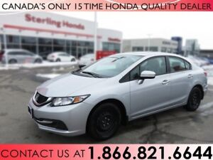 2015 Honda Civic EX | WINTER WHEELS | ALL WEATHER MATS | 1 OWNER