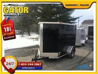 REMORQUE FERMÉ V-NOSE ENCLOSED TRAILER CARGO GATOR 5X8