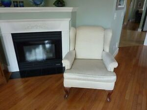 Comfy Wingback Chair made in Canada