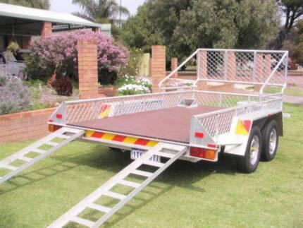 All aluminium flatbed trailer (car) for Motorhome/Bus