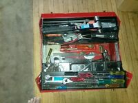 2 tool boxes with tools