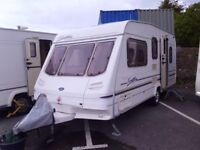 2001 Sterling Finesse 500L DOUBLE DINETTE 5 Berth Touring Caravan Inc Awning.