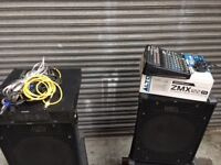 Speakers Amp Mixer FULL DJ DISCO SET