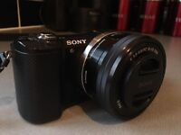 Sony Alpha 5000 digital camera for sale.