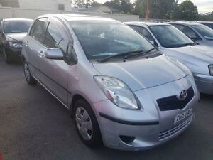 2005 Toyota Yaris NCP90R YR Silver 4 Speed Automatic Hatchback Edgeworth Lake Macquarie Area Preview