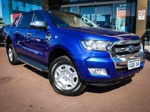 2016 Ford Ranger PX MkII XLT Double Cab Blue 6 Speed Sports Automatic Utility Maddington Gosnells Area Preview