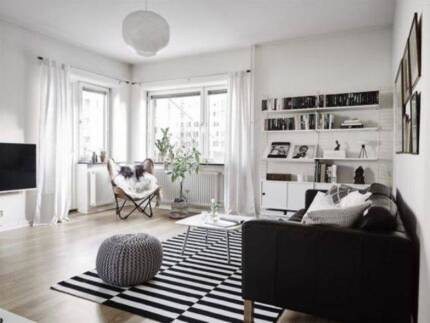 Ikea Stockholm Rug LARGE - Black and White Stripes Camberwell Vic