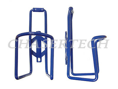 New MTB Road Bicycle Bike Alloy Bottle Cages Painted Blue 1 Pair