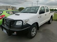 2011 Toyota Hilux KUN26R MY12 Workmate (4x4) White 5 Speed Manual Dual Cab Pick-up Welshpool Canning Area Preview