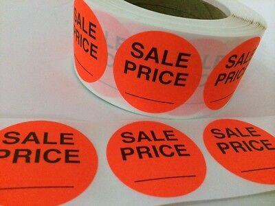 25 2 Sale Price Red Neon Stickers Circle Stickers New Sale Price Labels New